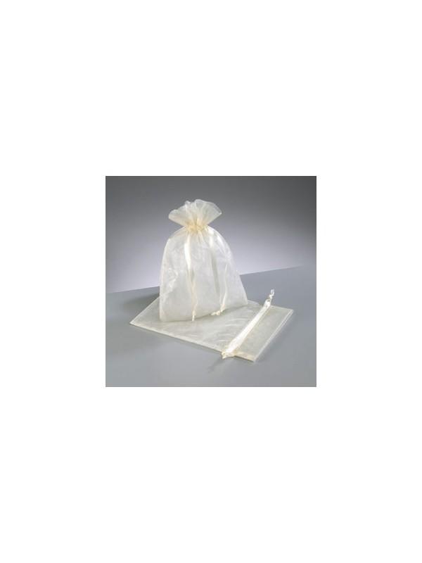 Organza zakjes 10 stuks - kleur crème 10x15cm