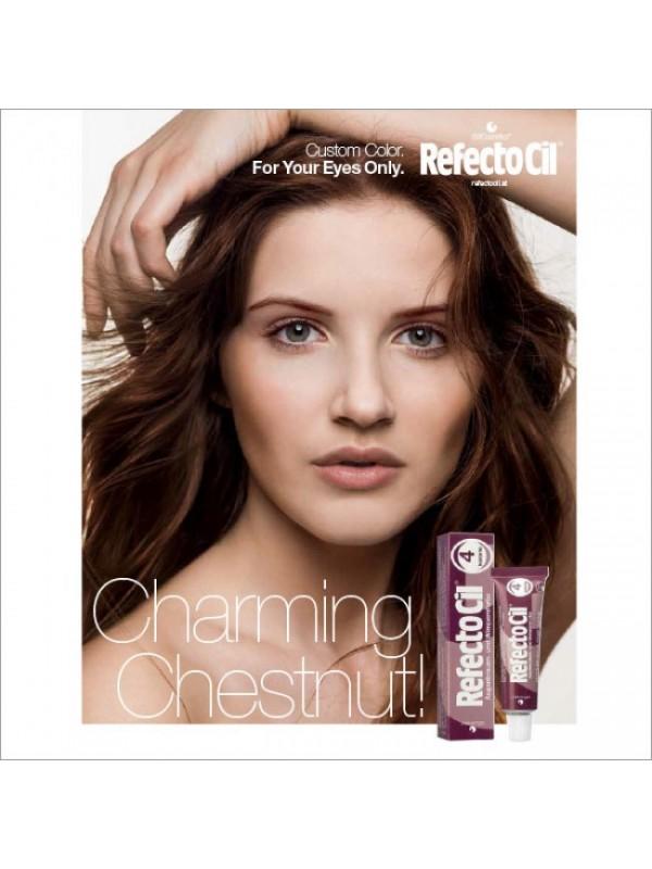 refectocil chestnut voor en na