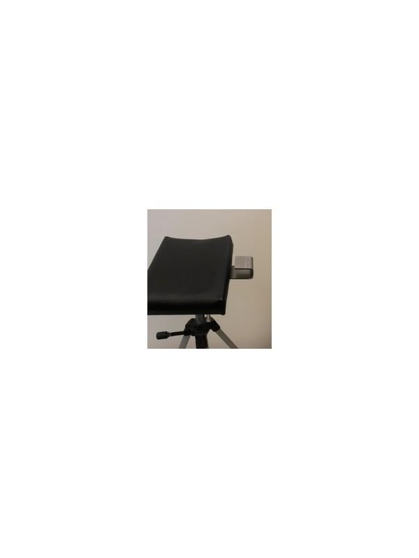 Beugel voor loupelamp tbv bevestiging op de beensteun