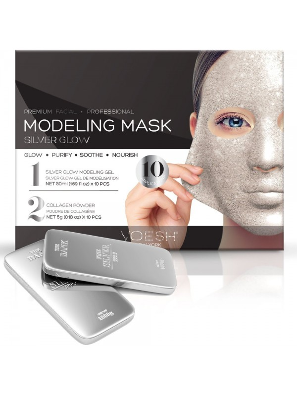 Voesh Facial Modeling Mask Silver Glow