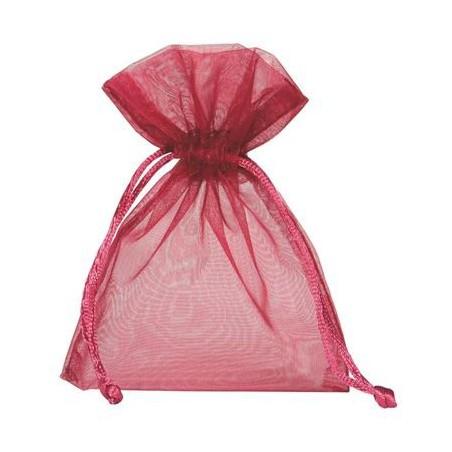 Organza zakjes 10 stuks - Rood 10x15cm
